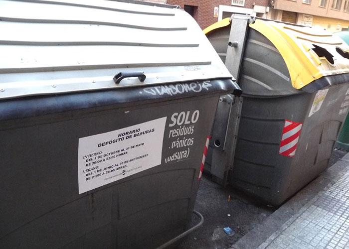 La basura se podrá depositar hasta las 11 de la noche desde el 1 de octubre