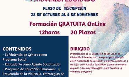 Ayuntamiento y Centro de la Mujer de Almodóvar del Campo organizan un taller gratuito online dirigido al profesorado
