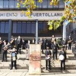 La Banda Sinfónica llenó de música el centro de Puertollano en el día de Santa Cecilia