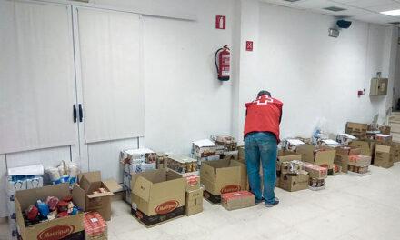 Cruz Roja Almodóvar lleva a cabo el segundo reparto del Programa 2020 de Ayuda Alimentaria, de 1.600 kilos